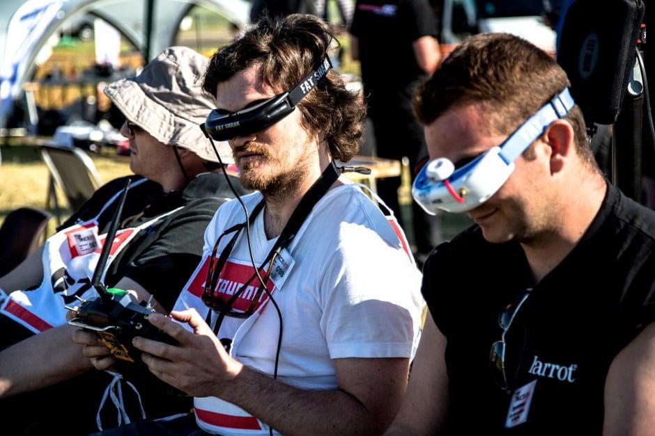 Participants courses de drone